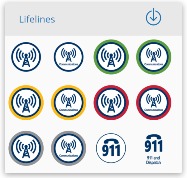 Section of Community Lifelines on a webpage