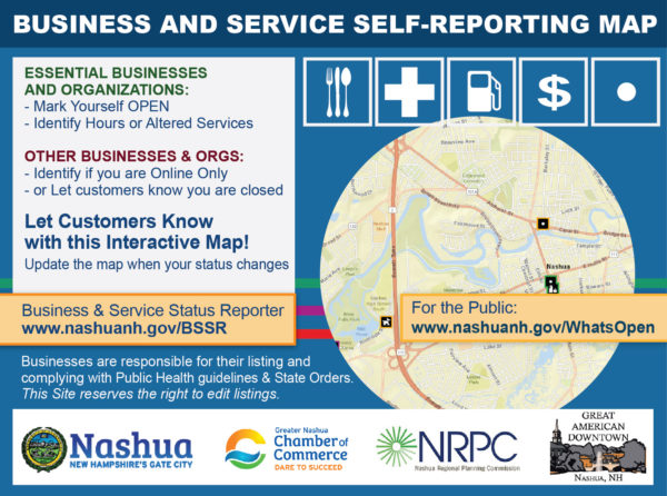 Business and Service Self-Reporting Map explanation