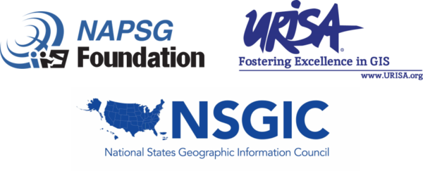 NAPSG Foundation, URISA, and NSGIC logos