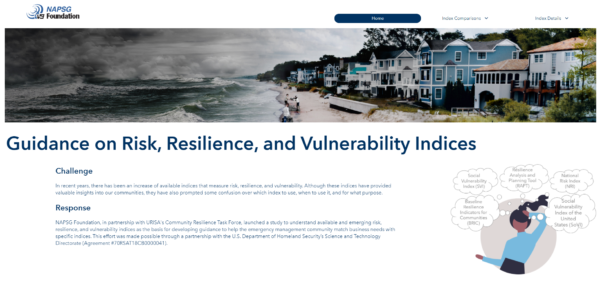 Screenshot of the Guidance on Risk, Resilience, and Vulnerability Indices