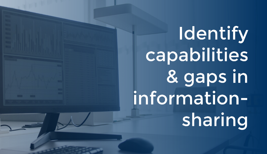 Identify capabilities and gaps in information-sharing